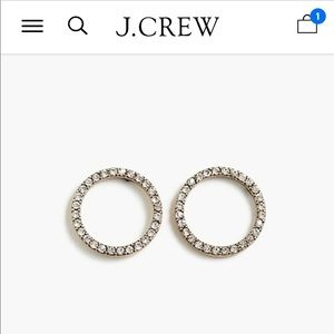 NWT J Crew pave earrings still in stores